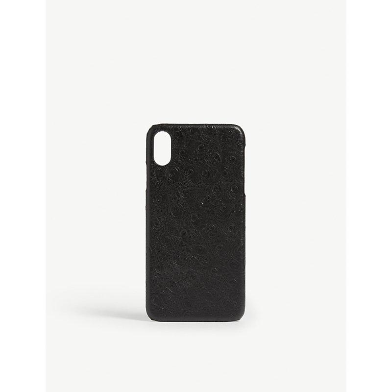 THE CASE FACTORY 鸵鸟-打印 电话 案件 Iphone X 最大 in Black