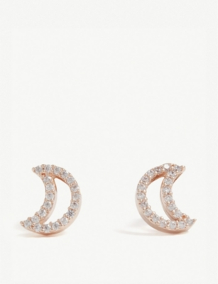 ASTRID & MIYU New Tricks rose gold star earrings