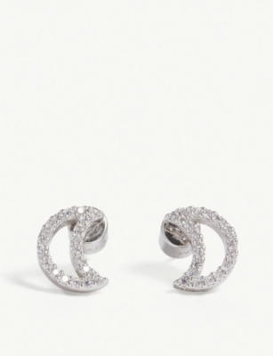 ASTRID & MIYU New Tricks rhodium star earrings