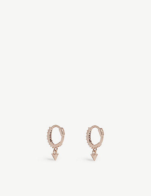 ASTRID & MIYU Mystic Spike huggies earrings