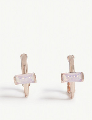 ASTRID & MIYU Mystic Dreams opal huggies earrings