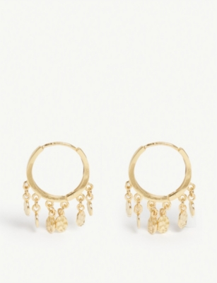 ASTRID & MIYU Mystic Coin hoop earrings