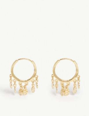 Astrid & Miyu MYSTIC COIN HOOP EARRINGS