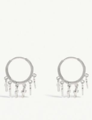 ASTRID & MIYU Mystic Cross hoop earrings
