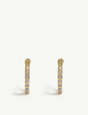 ASTRID & MIYU Mystic Jewel Huggies earrings