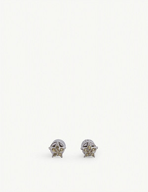 ASTRID & MIYU Mystic Star rhodium-plated stud earrings