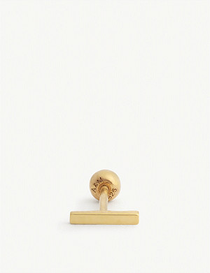 ASTRID & MIYU Simple 18k gold-plated barbell earring