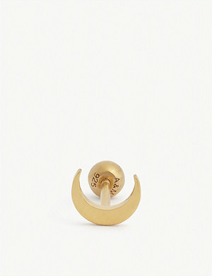 ASTRID & MIYU Moon 18k gold-plated barbell earring