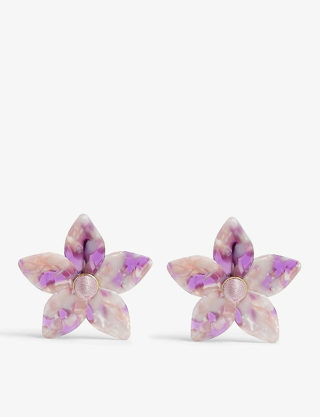 BAUBLEBAR - Amariella flower resin earrings | Selfridges com