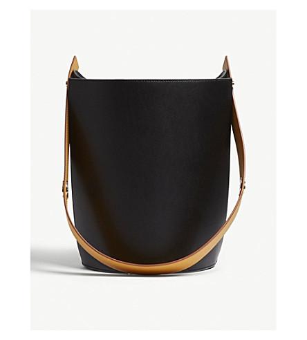 ... DANSE LENTE Mini Lorna small leather bucket bag (Black-ocra.  PreviousNext cb0f27701ebda