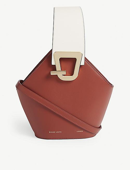 5f4b6ec673 DANSE LENTE Johnny mini leather bucket bag