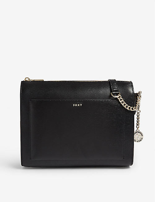 bd8a0160710d4 DKNY Bryant saffiano leather cross-body bag