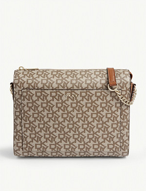 DKNY Bryant logo print cross-body bag