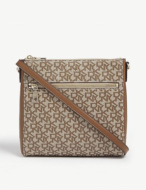 7d7562569c DKNY Bryant monogram leather cross-body bag