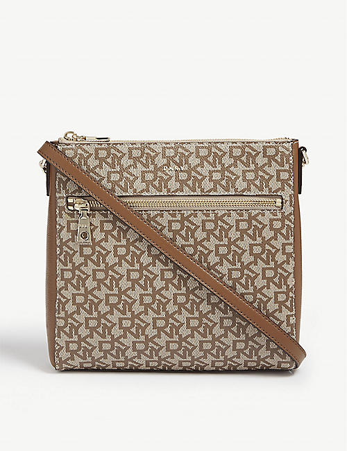 f8d3db7b1f58f DKNY Bryant monogram leather cross-body bag