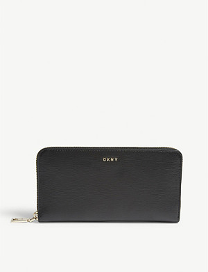 DKNY Bryant textured leather zip-around wallet