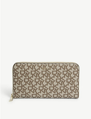 DKNY: Bryant textured leather zip-around purse