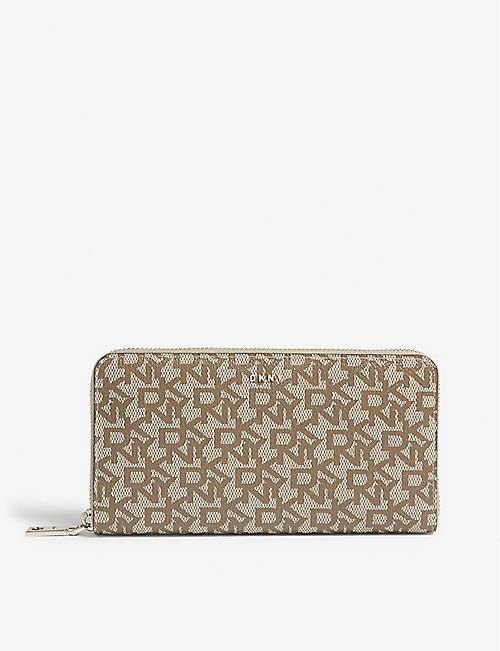 DKNY Bryant textured leather zip-around purse 6288eef4d851