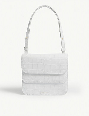 REJINA PYO Ana croc-embossed leather shoulder bag