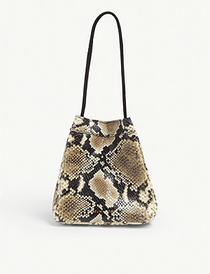 REJINA PYO Rita croc-embossed bag