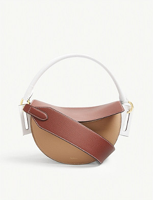 YUZEFI Dip leather cross-body bag