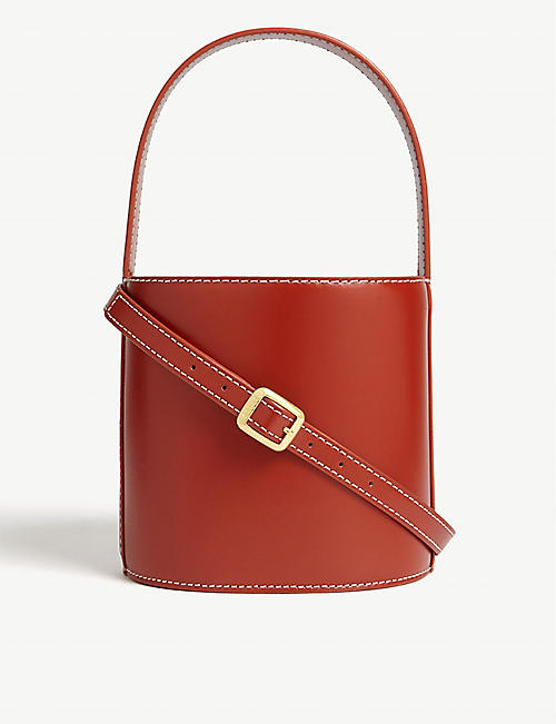 STAUD Bissett leather bucket bag