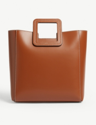 STAUD Shirley leather tote bag