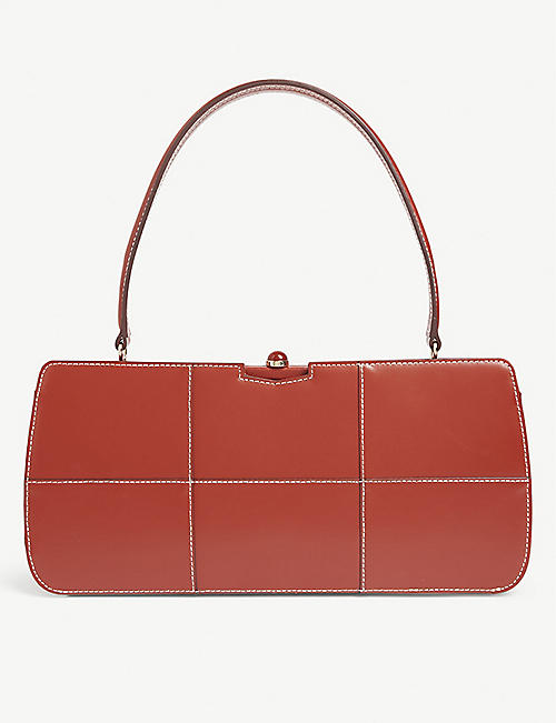 STAUD Whitney leather shoulder bag