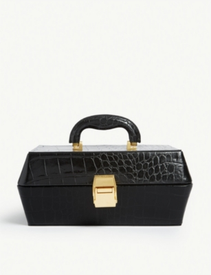 STAUD Lincoln croc-embossed leather bag