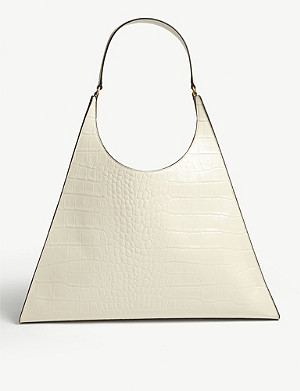 STAUD Rey large croc-embossed leather bag