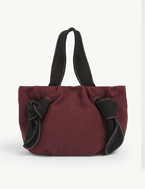 STAUD Ronnie satin tote bag