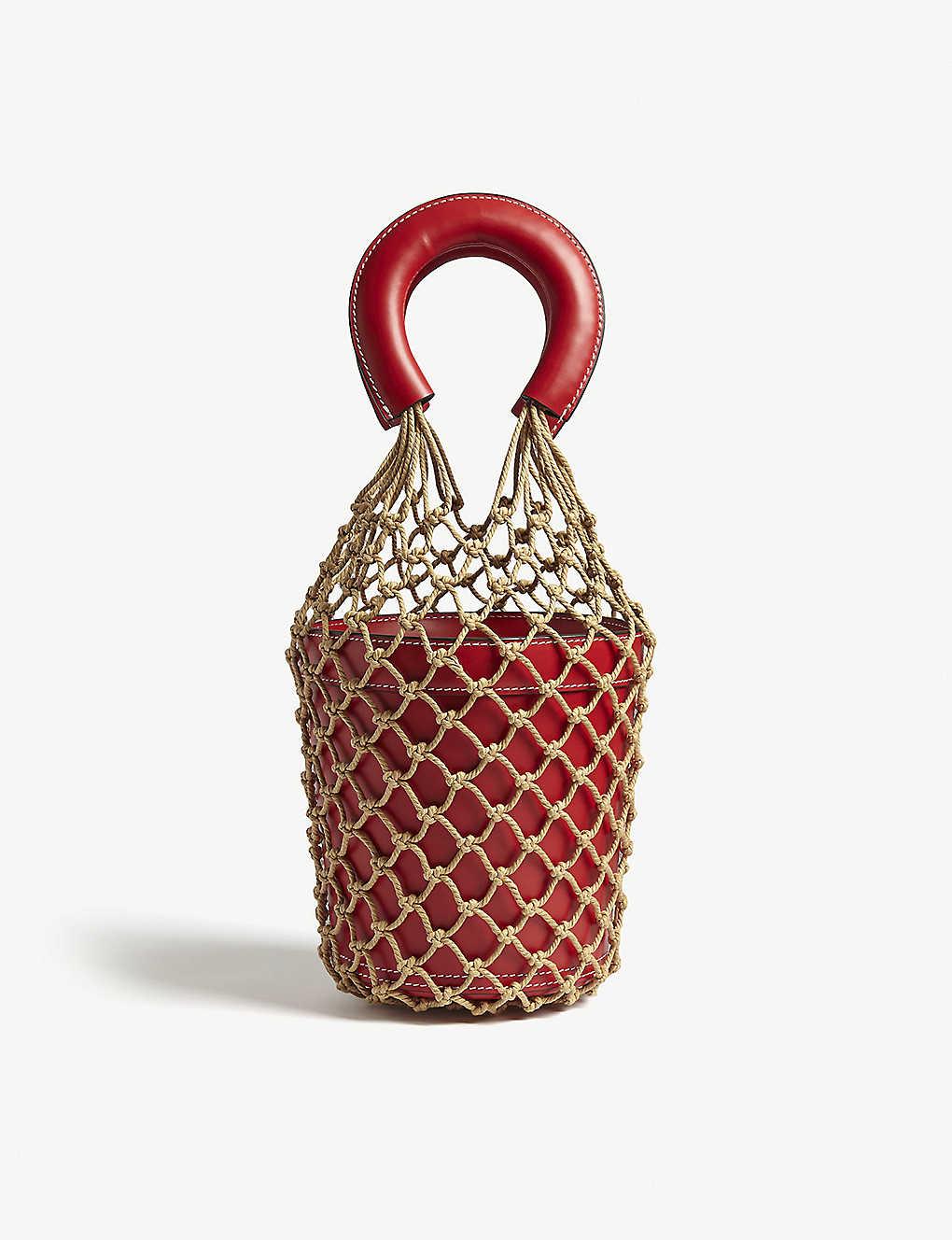 34ca84835 STAUD - Moreau macramé and leather bucket bag | Selfridges.com