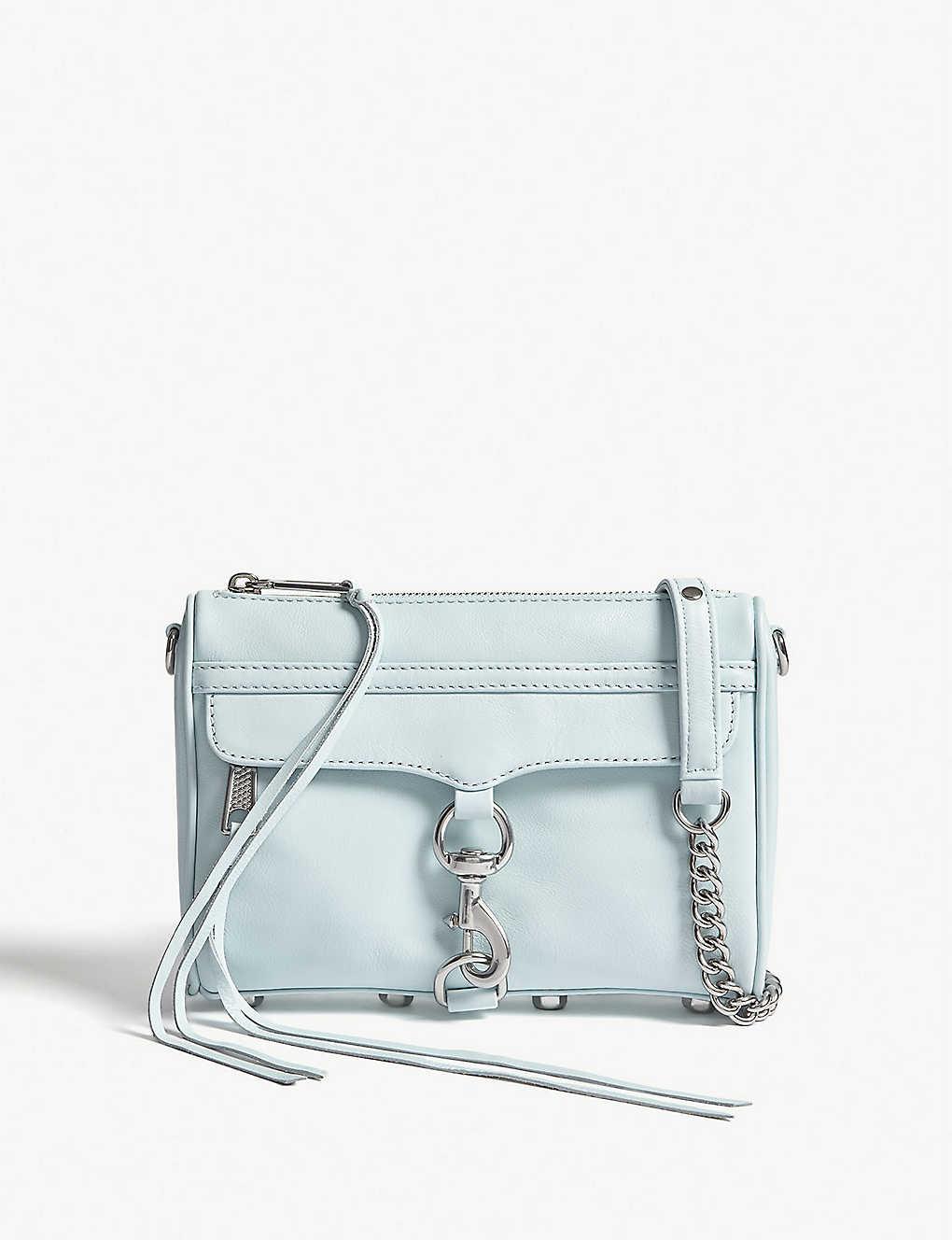 87b72d512 REBECCA MINKOFF - Mini Mac grained leather cross-body bag ...