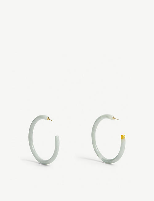 CULT GAIA Geneva tortoiseshell hoop earrings