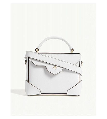 78879189ef MANU ATELIER Micro Bold Combo leather shoulder bag (White