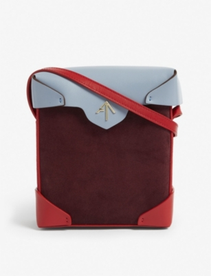 MANU ATELIER Mini Pristine leather cross-body bag