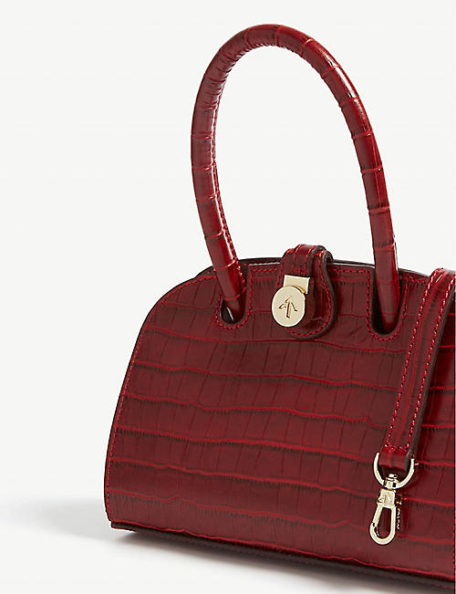 6ba46910f1a MANU ATELIER Ladybird micro croc-embossed leather tote. Quick Shop