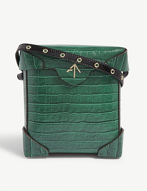 MANU ATELIER Croc-embossed Pristine shoulder bag
