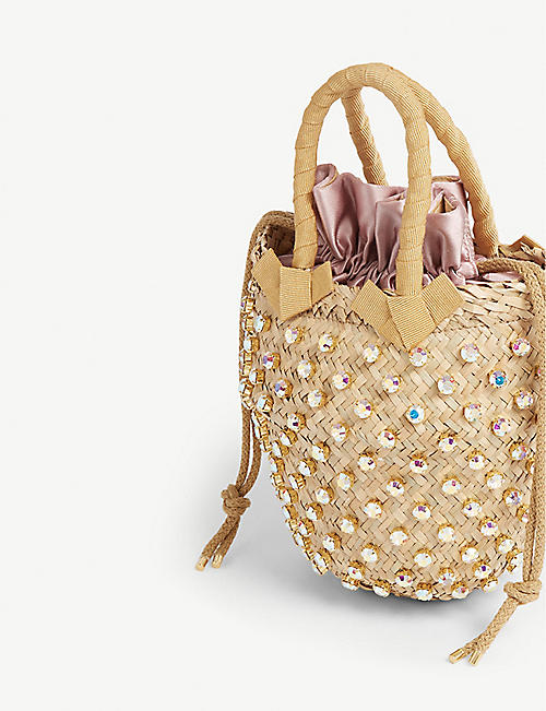 LE NINE Straw bucket bag