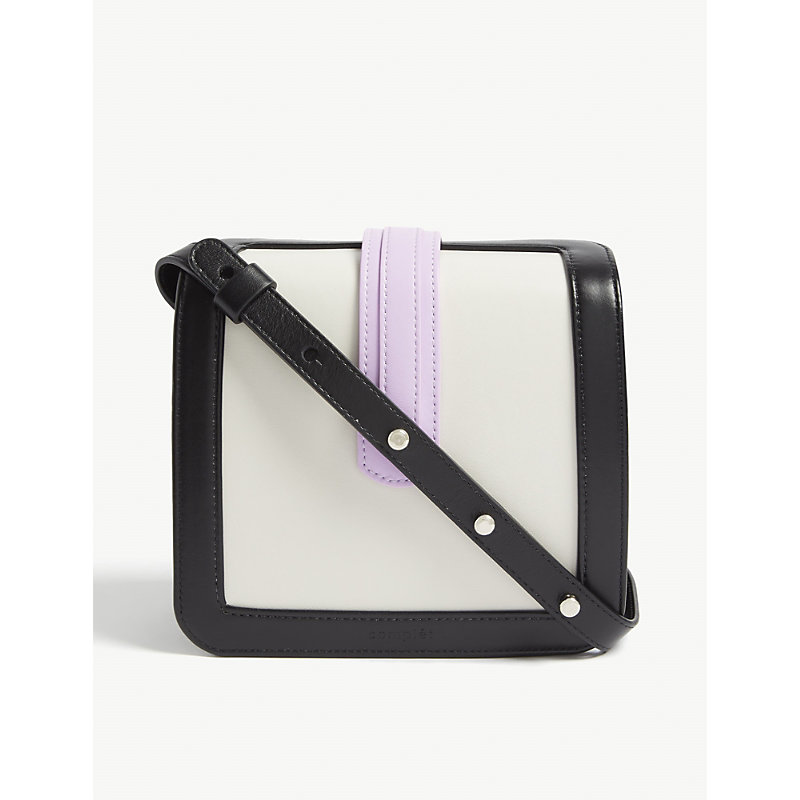 COMPLET Jade Leather Cross-Body Bag in Black Combo