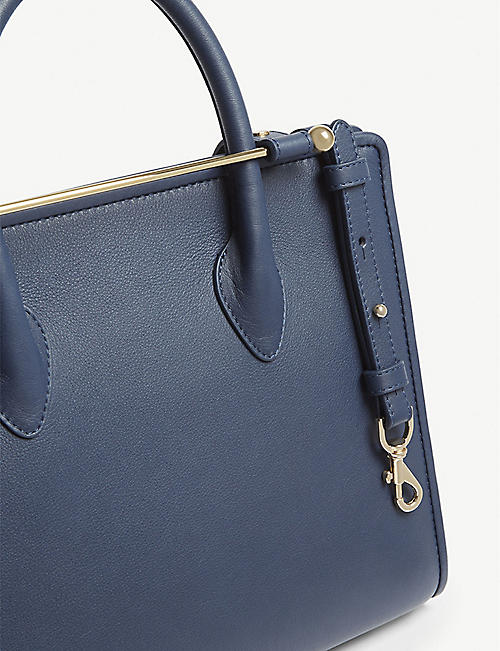 STRATHBERRY Leather midi tote bag
