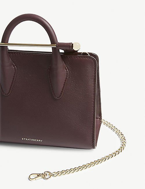 STRATHBERRY Leather nano tote bag