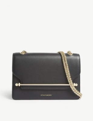 STRATHBERRY Leather East/West clutch bag