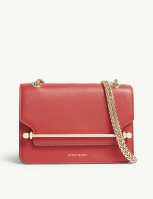 STRATHBERRY Leather mini East/West clutch bag