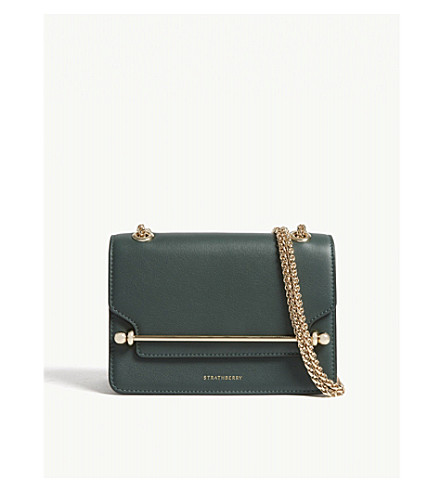 54ad55b11d9a ... STRATHBERRY East West mini leather cross-body bag (Bottle+green.  PreviousNext