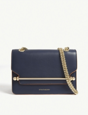 STRATHBERRY Mini East/West Edge leather cross-body bag