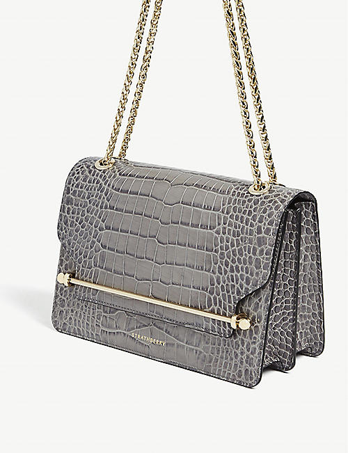 STRATHBERRY East/West croc-embossed bag