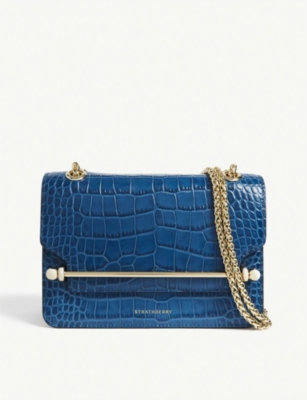 STRATHBERRY East/West mini croc-embossed bag