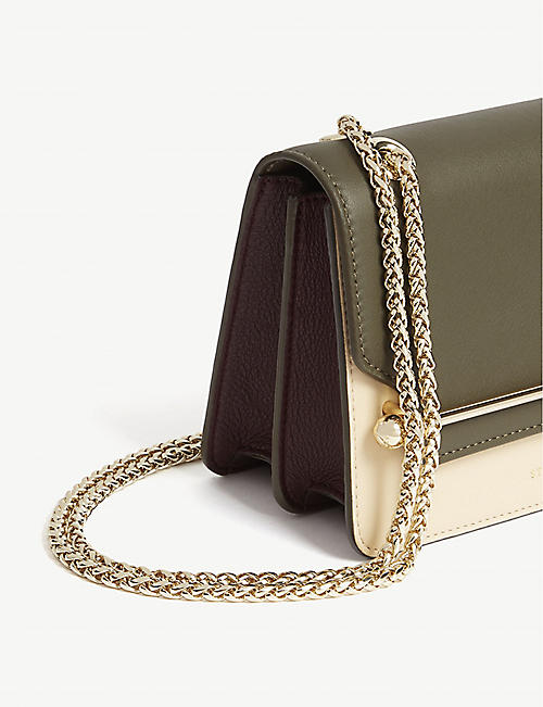 STRATHBERRY Mini East/West Tri-colour leather cross-body bag