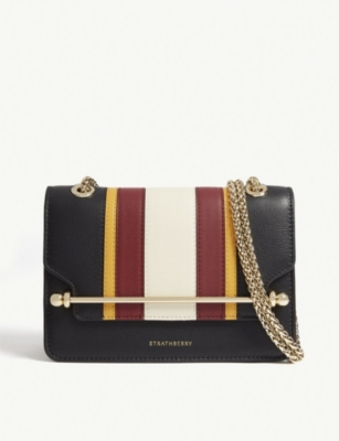 STRATHBERRY Mini East/West leather cross-body bag